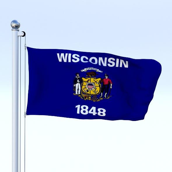 Animated Wisconsin Flag
