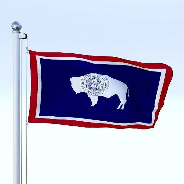 Animated Wyoming Flag