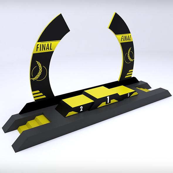 Sport podium arc low poly