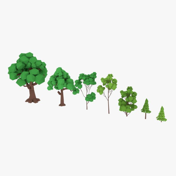 LowPoly Trees Pack - 3DOcean Item for Sale