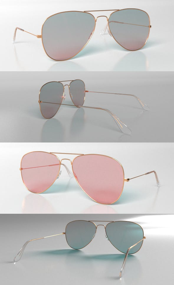 Ray Ban Sunglasses - 3DOcean Item for Sale