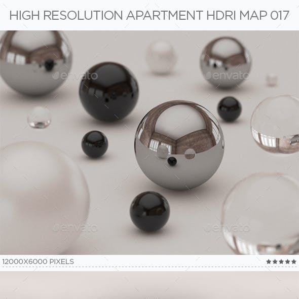 High Resolution Apartment HDRi Map 017