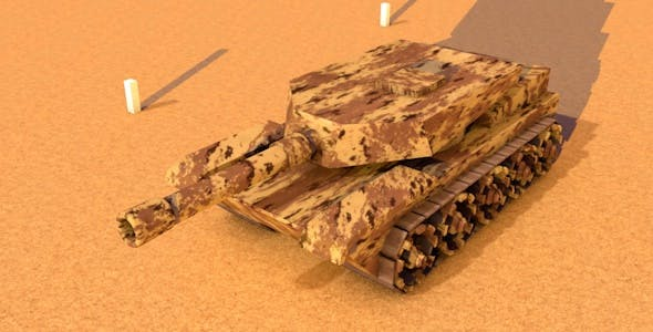 Low Poly Tank - 3DOcean Item for Sale