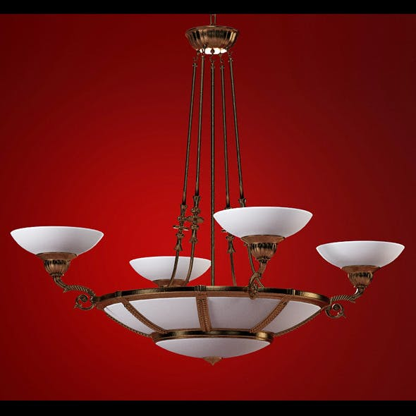 High quality 3dmodel of classic chandelier Posson - 3DOcean Item for Sale