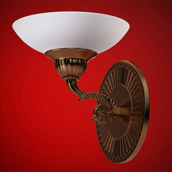 High quality 3dmodel of classic sconce Posson - 3DOcean Item for Sale