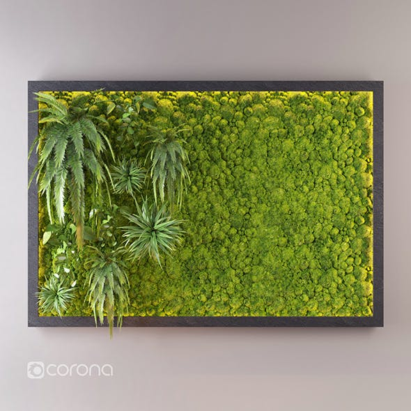 Fito wall with moss - 3DOcean Item for Sale