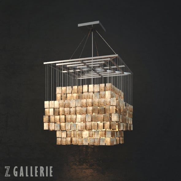 Z Gallerie - Capiz Chandelier - 3DOcean Item for Sale