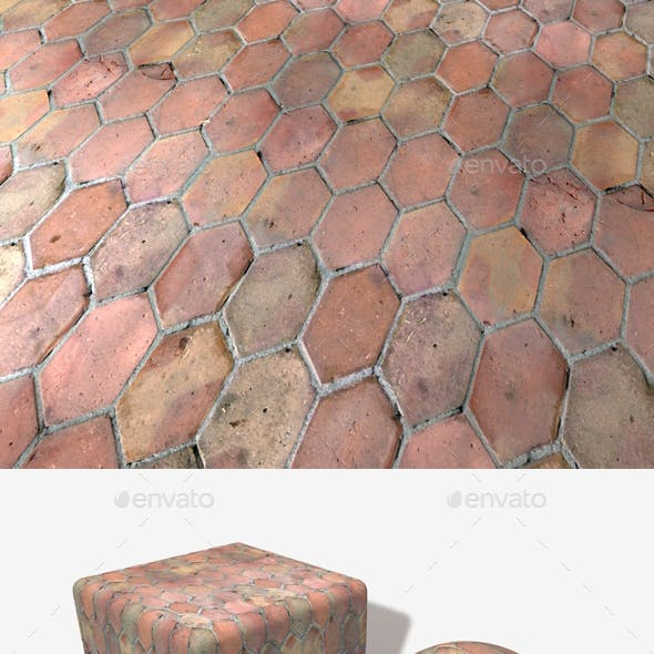 Long Hexagon Old Floor Tiles