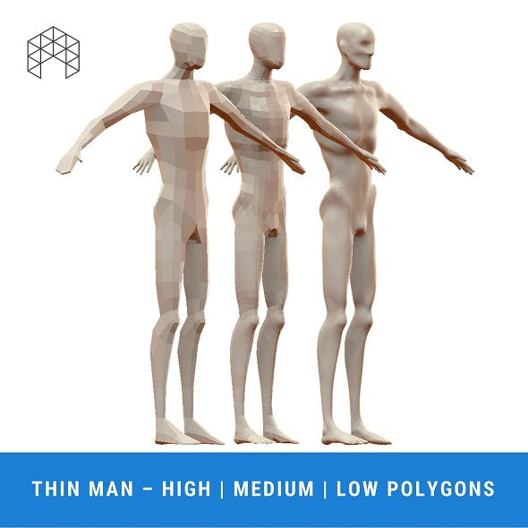 Thin Man Base Mesh - 3 Files