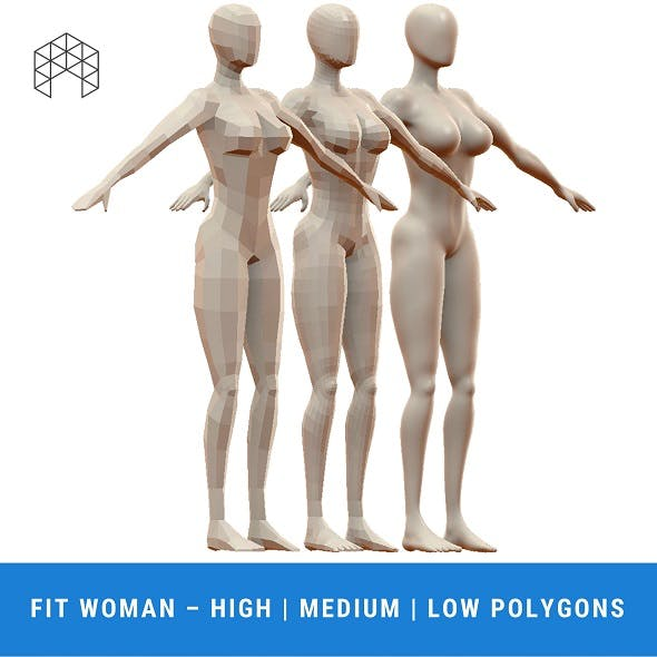 Fit Woman Base Mesh - 3 Files