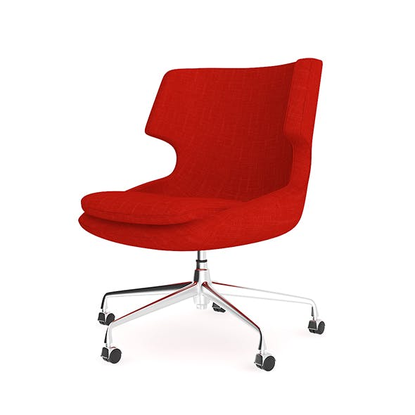 Red Fabric Swivel Chair - 3DOcean Item for Sale