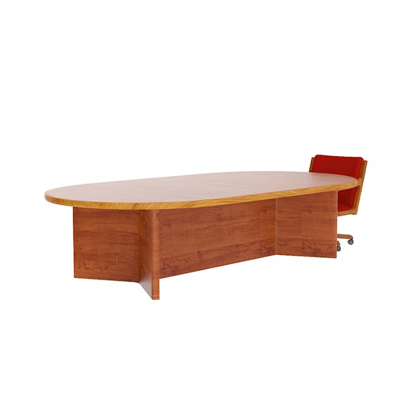 Large Table with Swivel Chair - 3DOcean Item for Sale