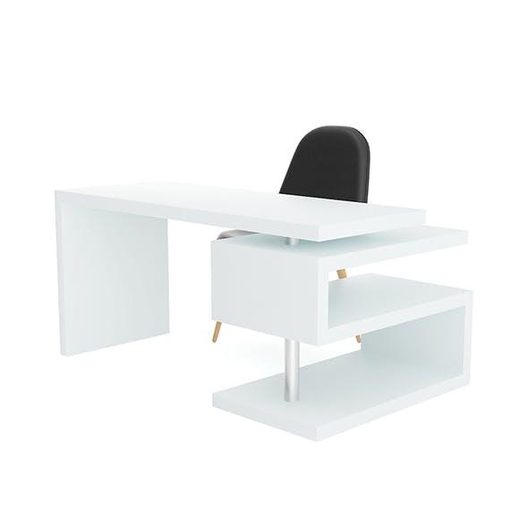 White Desk Black - 3DOcean Item for Sale
