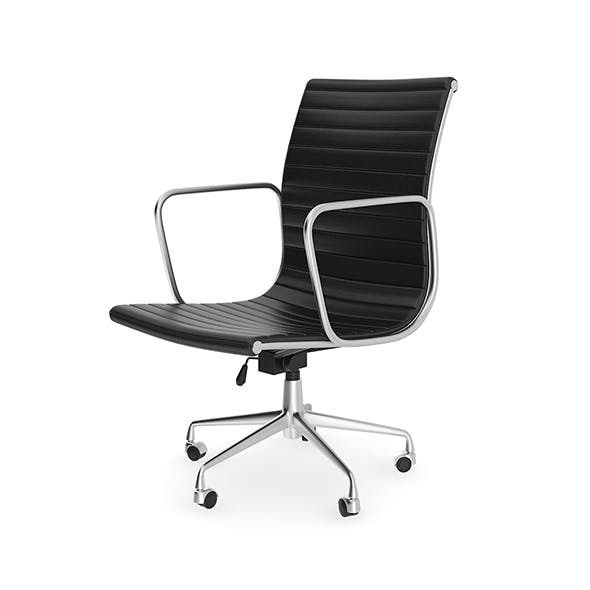 Black Leather Swivel Chair - 3DOcean Item for Sale