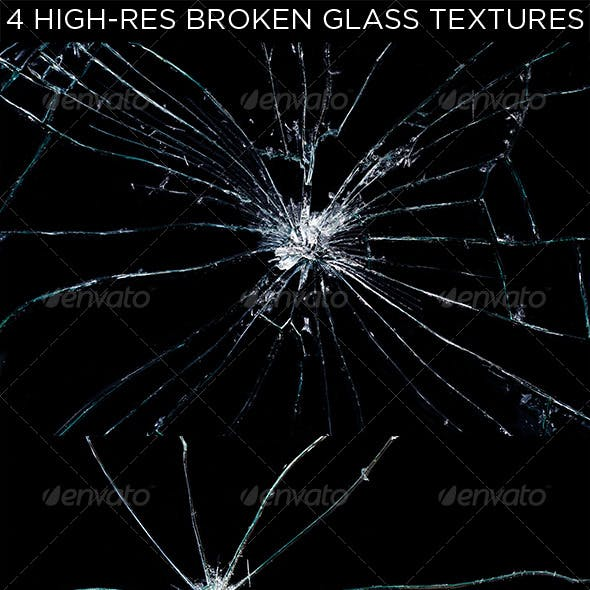 4 Broken Glass Textures