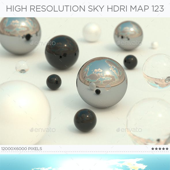 High Resolution Sky HDRi Map 123