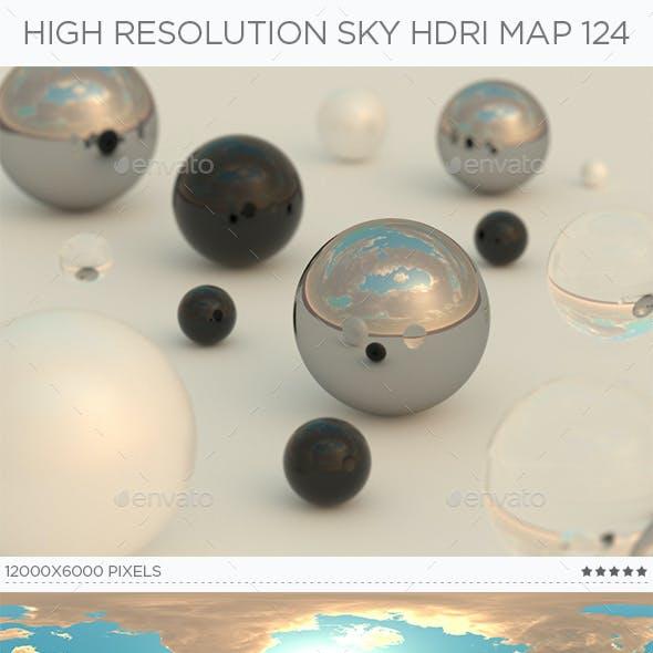 High Resolution Sky HDRi Map 124