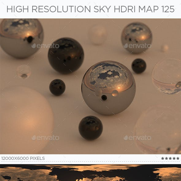 High Resolution Sky HDRi Map 125