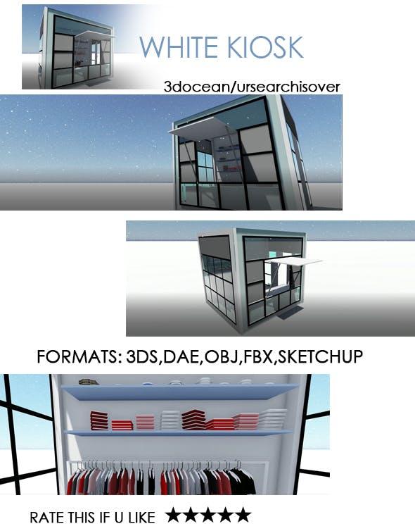 White Kiosk - 3DOcean Item for Sale