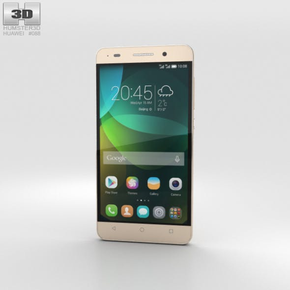 Huawei Honor 4C Gold - 3DOcean Item for Sale