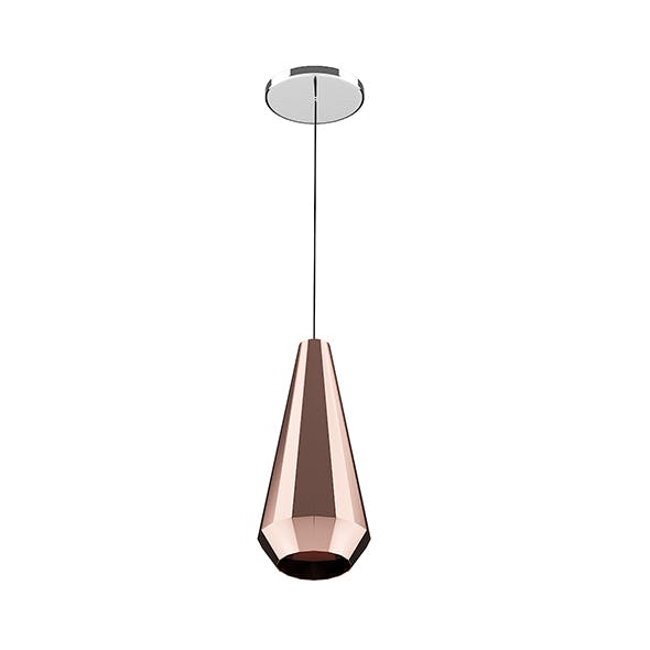 Ceiling Lamp with Copper Shade