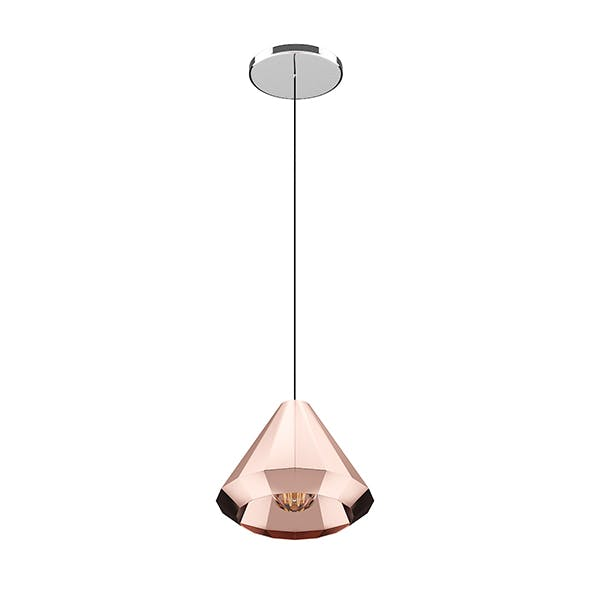 Ceiling Lamp with Copper Shade - 3DOcean Item for Sale