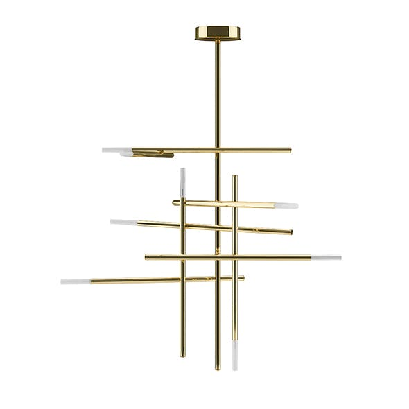 Golden Ceiling Lamp - 3DOcean Item for Sale