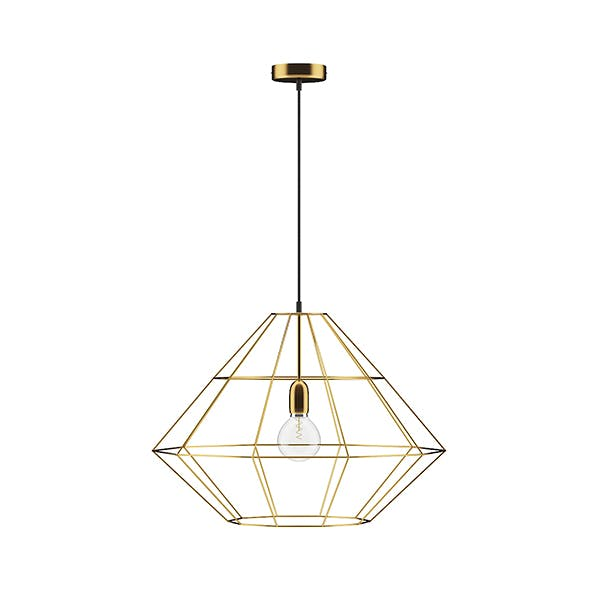 Golden Wire Ceiling Lamp