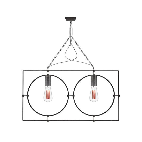 Dark Metal Ceiling Lamp - 3DOcean Item for Sale