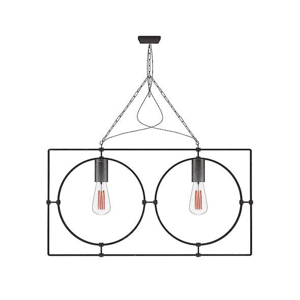 Dark Metal Ceiling Lamp
