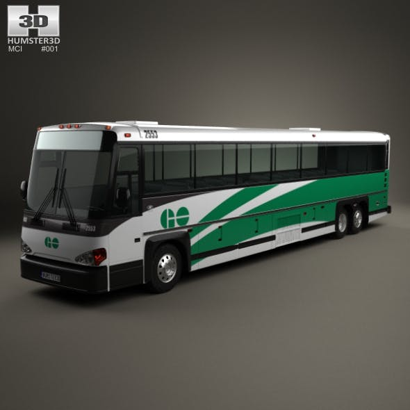 MCI D4500 CT Transit bus 2008 - 3DOcean Item for Sale