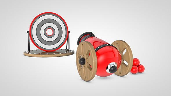 Kids toy cartoon cannon - 3DOcean Item for Sale
