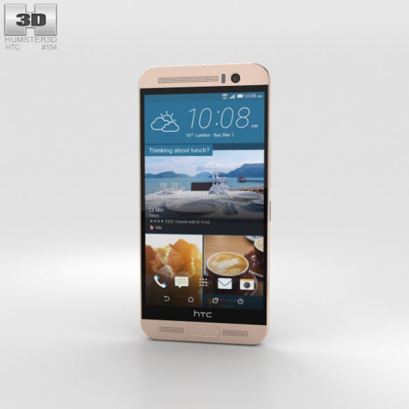 HTC One ME Gold Sepia - 3DOcean Item for Sale