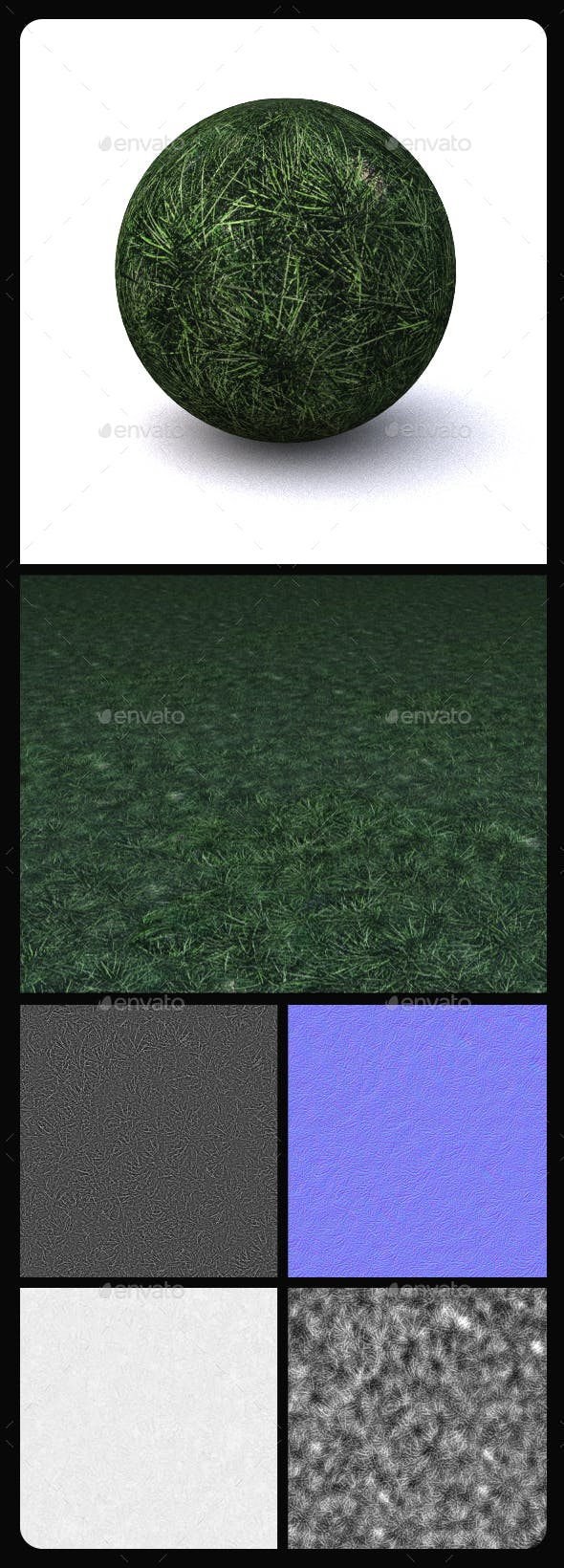 Grass Tile Texture 14 - 3DOcean Item for Sale