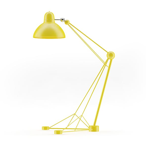 Large Yellow Floor Lamp