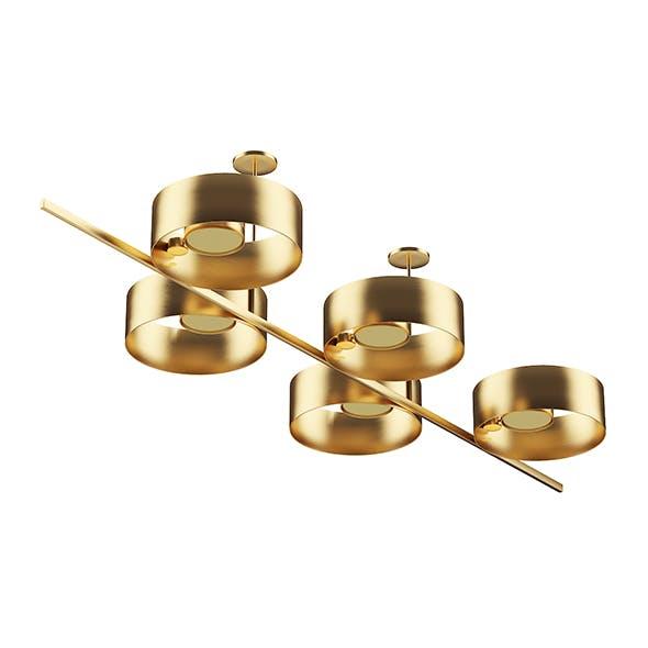 Golden Metal Ceiling Lamp - 3DOcean Item for Sale