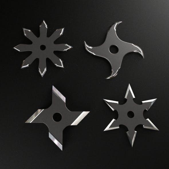 Shuriken Throwing Star - 3DOcean Item for Sale