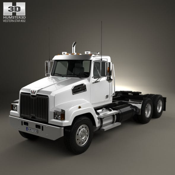 Western Star 4700 Set Forward Tractor Truck 2011 - 3DOcean Item for Sale