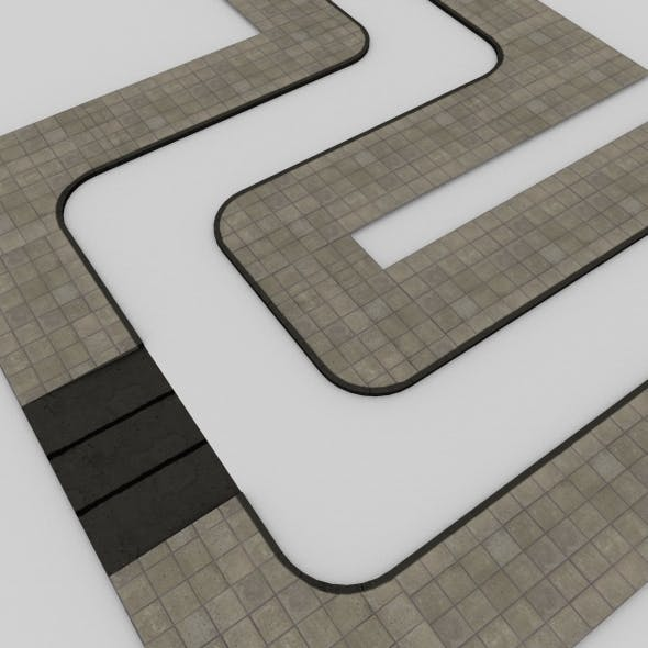 Sidewalk Tileset - 3DOcean Item for Sale