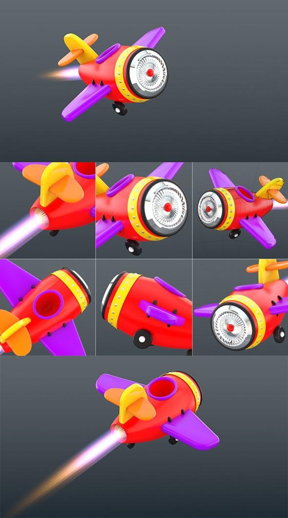 Cartoon jet  airplane - 3DOcean Item for Sale