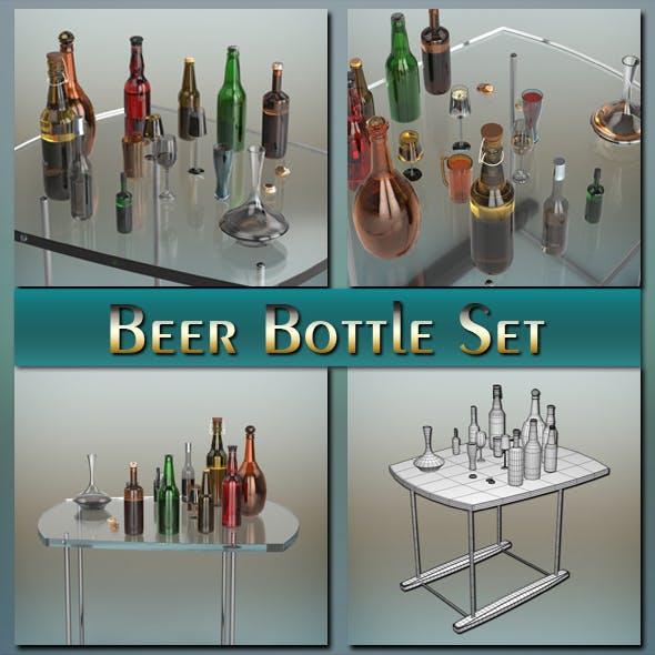Beer Bottle Set - 3DOcean Item for Sale