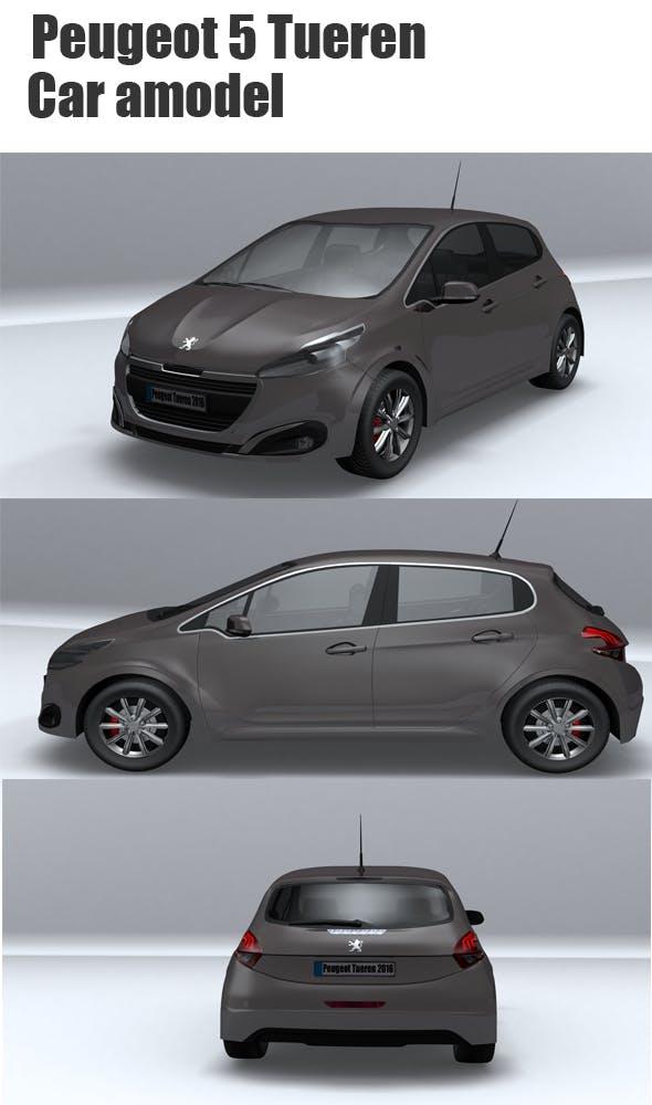 Peugeot 5 Tueren - 3DOcean Item for Sale