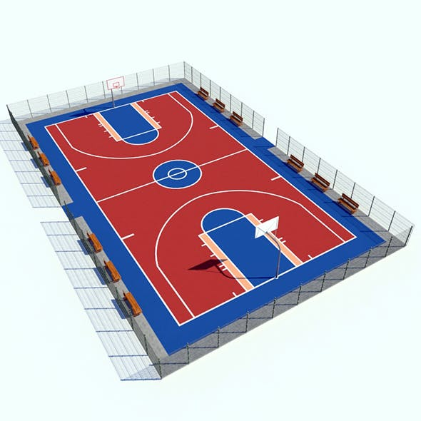 Basketball Square - 3DOcean Item for Sale