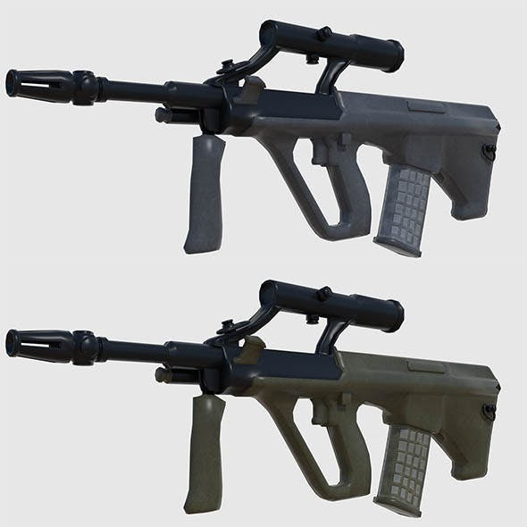 Steyr AUG Assault Rifle - Game Ready - 3DOcean Item for Sale