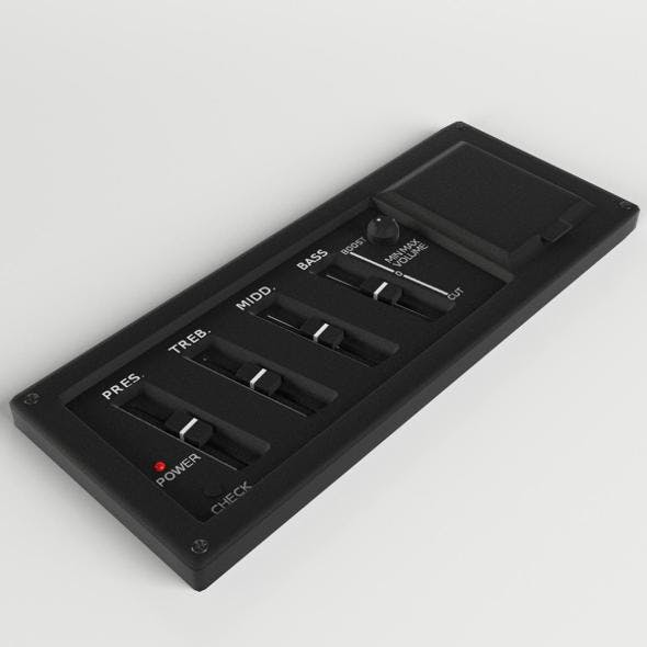 Guitar Equalizer control panel