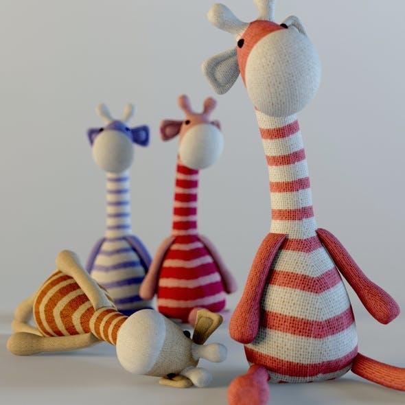 Textile giraffes toys