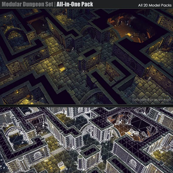 Modular Dungeon Set | All-in-One Package