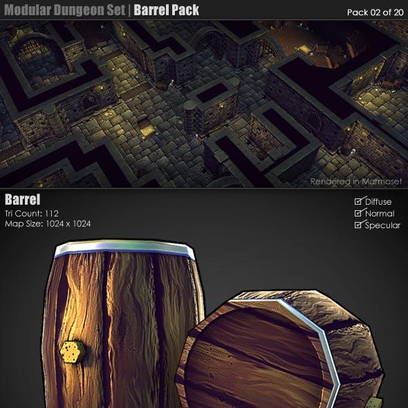 Modular Dungeon Set | Barrel Pack (02 of 20)