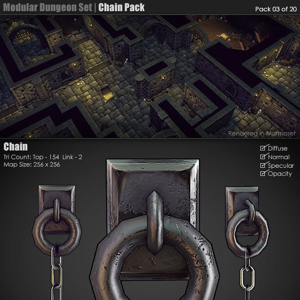 Modular Dungeon Set | Chain Pack (03 of 20)