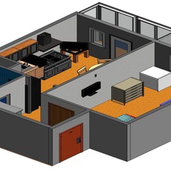 Design project one-room apartment